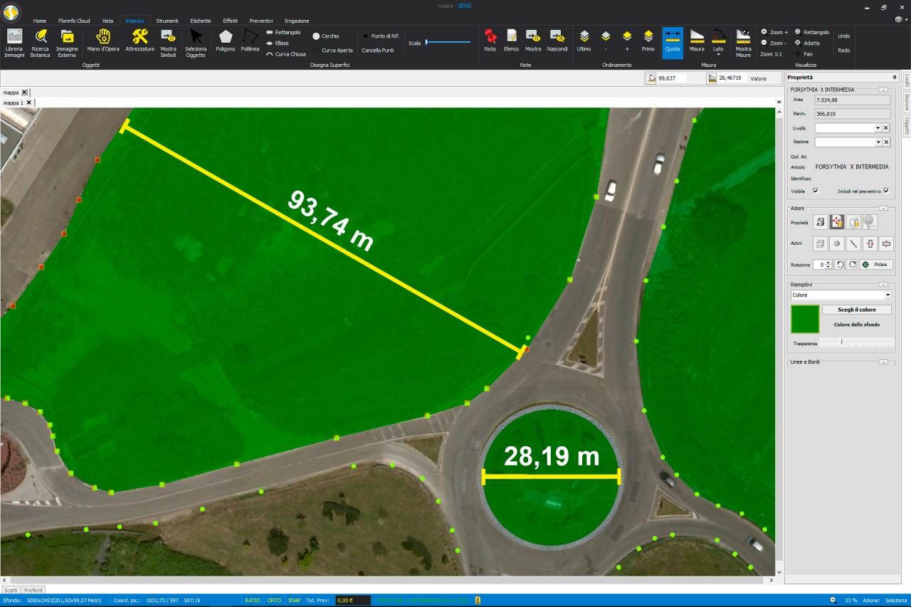 Florinfo sevis software per la progettazione giardini for Software per planimetrie